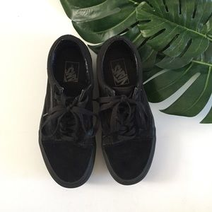 Vans all black suede sneakers size 7.5